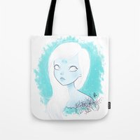 cancer Tote Bags featuring CANCER ♋ by ⋆ cla ⋆