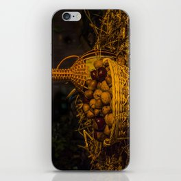 Still-life with nuts and wine iPhone Skin