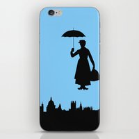 mary poppins iPhone & iPod Skins featuring Mary Poppins by TheWonderlander