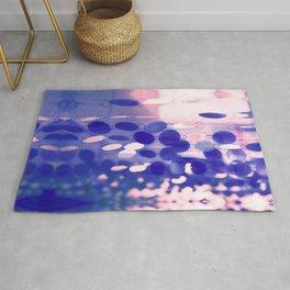 GLAM CIRCLES #Soft Pink/Blue #1 Rug
