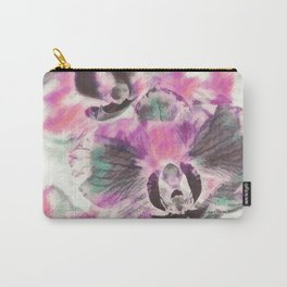 Orchid flowers in watercoloring style Carry-All Pouch