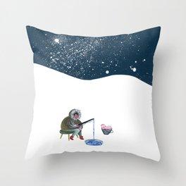 Shellfisherwoman Throw Pillow