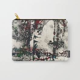 Shy Peacock Print Carry-All Pouch