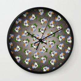 Dachshund - Day of the Dead Sugar Skull Wiener Dog Wall Clock