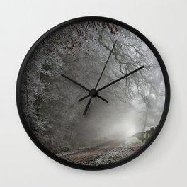 Frosty Trail Wall Clock