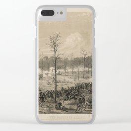 American Civil War: The Battle of Shiloh by Alfred Edward Mathews (1862) Clear iPhone Case