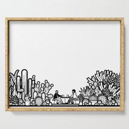 Chai and Cacti II Serving Tray
