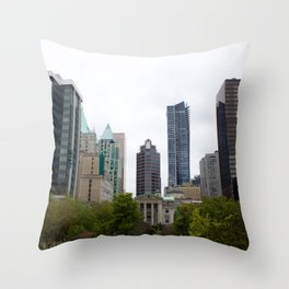 Vancouver from Robson Square Throw Pillow