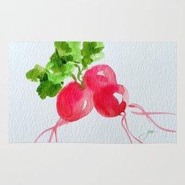 Watercolor Radishes Rug