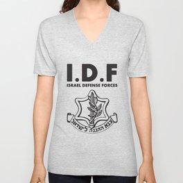 IDF Israel Defense Forces - with Symbol - ENG Unisex V-Neck