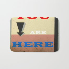 You Are Here Bath Mat