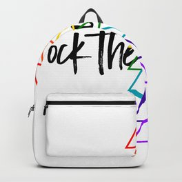 Rock the Chakras- text Backpack