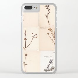 Vintage Herbarium Botanical Collection 1860 Clear iPhone Case