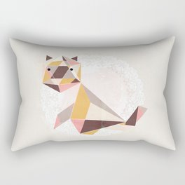 Geometric Cat Rectangular Pillow