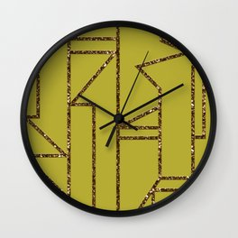 Ladders B (yellow) Wall Clock