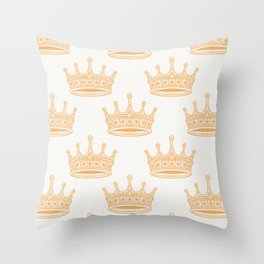 Always Wear Your Invisible Crown Quote - Orange Throw Pillow