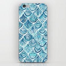 NAVY LIKE A MERMAID Fish Scales Watercolor iPhone Skin