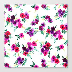 Ava Floral Pink Canvas Print