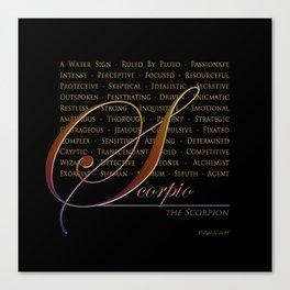 Sign Language for Scorpio Canvas Print
