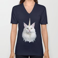 Unicorn Cat Unisex V-Neck