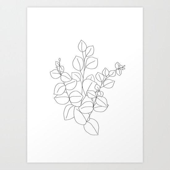 Minimalistic Eucalyptus  Line Art by nadja1
