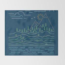 Outdoor solitude - line art Throw Blanket