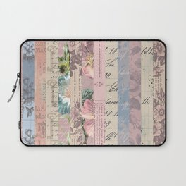 Vintage Shabby Florals Laptop Sleeve
