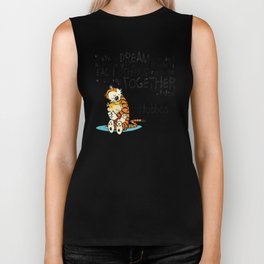 Calvin and Hobbes Dreams Biker Tank