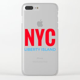 NYC Liberty Island Clear iPhone Case