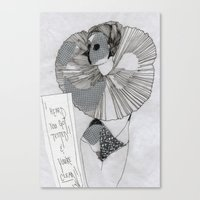 postcard Canvas Prints featuring POstcard  by Lisa G Bauer