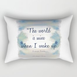The World is Mine Rectangular Pillow