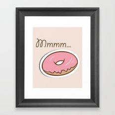 Mmmm... Donut Framed Art Print