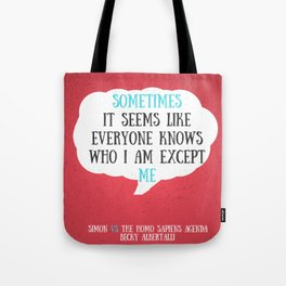 Simon vs the Homo Sapiens Agenda quote Tote Bag