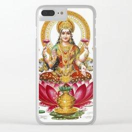 Hindu Goddess Lakshmi Indian Asia Yoga Meditation Clear iPhone Case