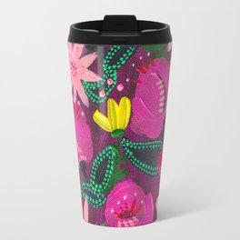 Magenta Blooms Travel Mug