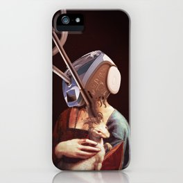 Modern  lady with an ermine iPhone Case