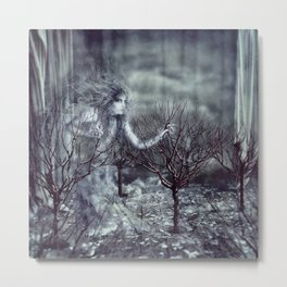In The White Metal Print