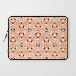 Soft Peach and White Flower with a touch of Black Seeds Floral Laptop Sleeve