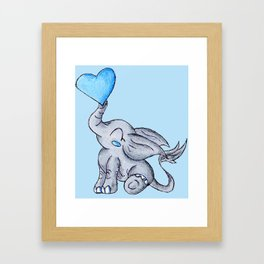 Heart for Baby (Boy) Framed Art Print