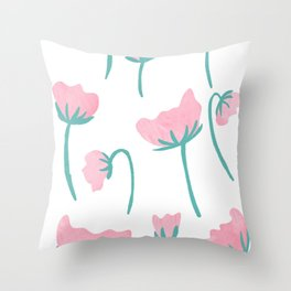 Peony Blooms Throw Pillow