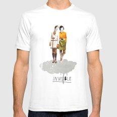 Invisible | Collage MEDIUM White Mens Fitted Tee