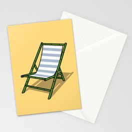 Beach Lounge Chair Stationery Cards