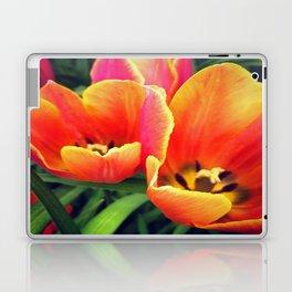 Coral Tulips in Bloom Laptop & iPad Skin