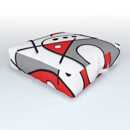 Harlequin Dancer Outdoor Floor Cushion