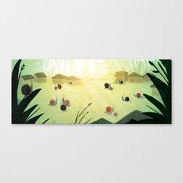 Sammy Snail Village Canvas Print