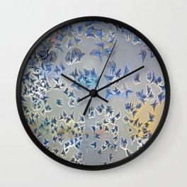 Snow Flakes Wall Clock