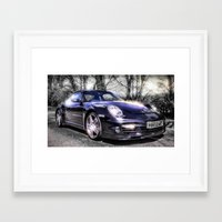 porsche Framed Art Prints featuring Porsche by ian hufton