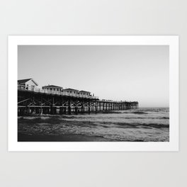 Mission Beach B&W Art Print