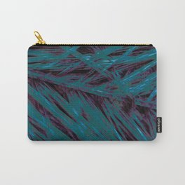 Flora Celeste Amazonite Leaves Carry-All Pouch