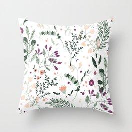 Spring Florals Throw Pillow